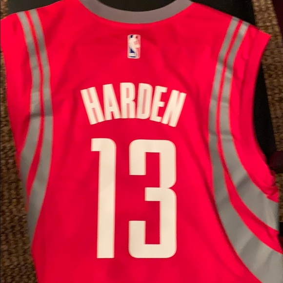 outlet store 74060 33891 Adidas Red Houston Rockets James Harden Jersey